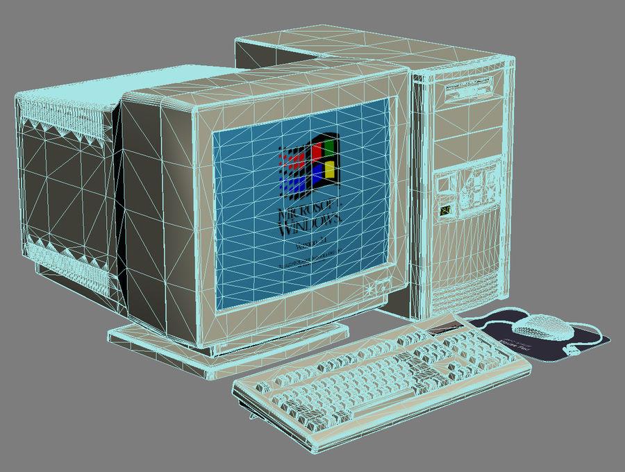 Gammal personlig dator för PC för vintage royalty-free 3d model - Preview no. 9