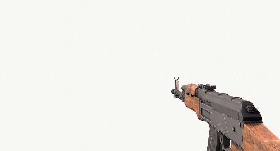 AK47 Kalashnikov royalty-free 3d model - Preview no. 16