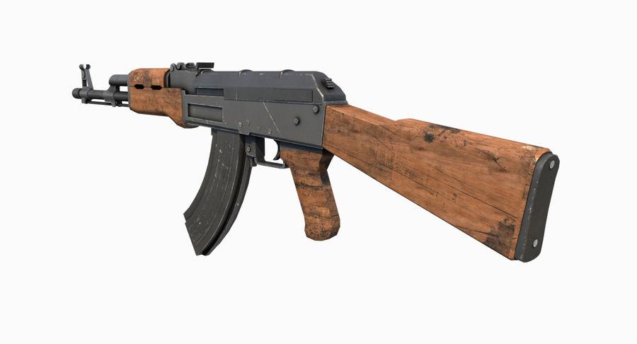 AK47 Kalashnikov royalty-free 3d model - Preview no. 7