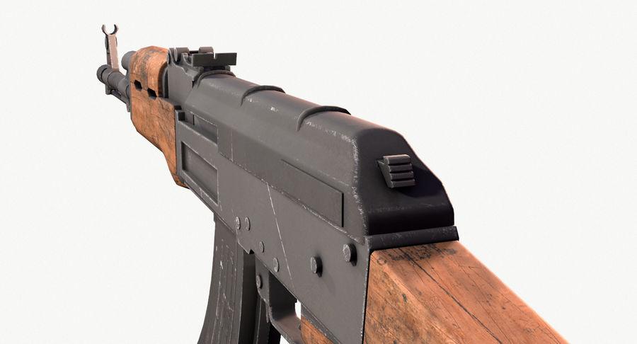AK47 Kalashnikov royalty-free 3d model - Preview no. 15