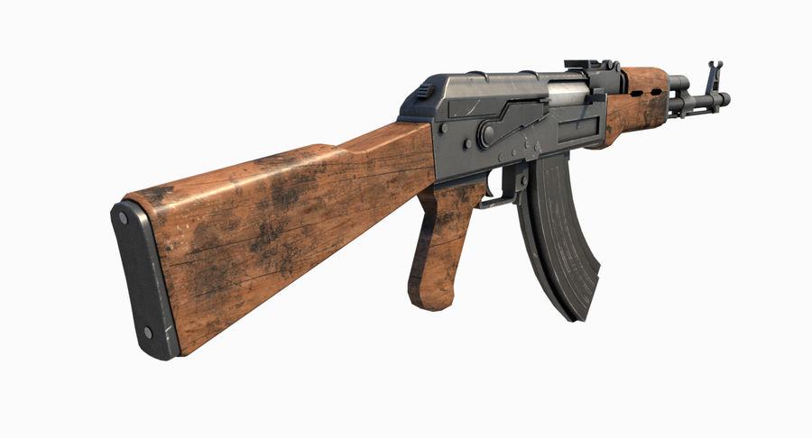 AK47 Kalashnikov royalty-free 3d model - Preview no. 5