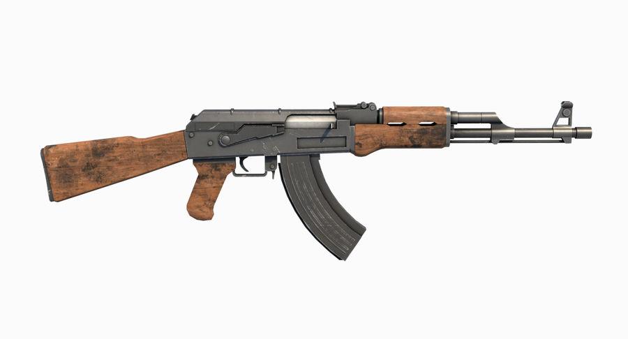 AK47 Kalashnikov royalty-free 3d model - Preview no. 9