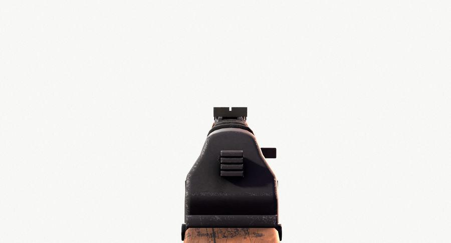 AK47 Kalashnikov royalty-free 3d model - Preview no. 17
