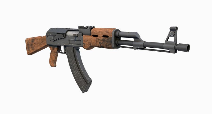 AK47 Kalashnikov royalty-free 3d model - Preview no. 6