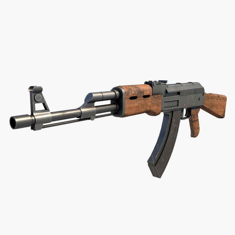 AK47 Kalashnikov royalty-free 3d model - Preview no. 1
