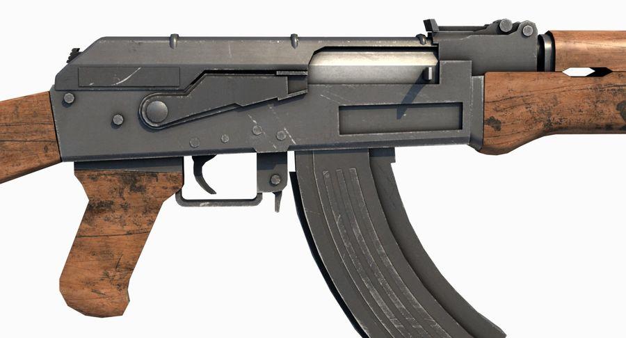 AK47 Kalashnikov royalty-free 3d model - Preview no. 18