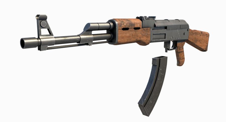 AK47 Kalashnikov royalty-free 3d model - Preview no. 13