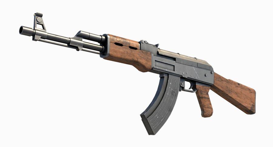 AK47 Kalashnikov royalty-free 3d model - Preview no. 14