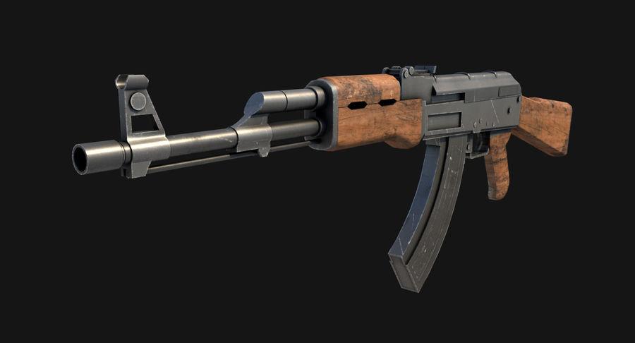 AK47 Kalashnikov royalty-free 3d model - Preview no. 3