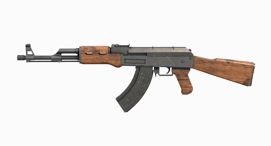 AK47 Kalashnikov royalty-free 3d model - Preview no. 8