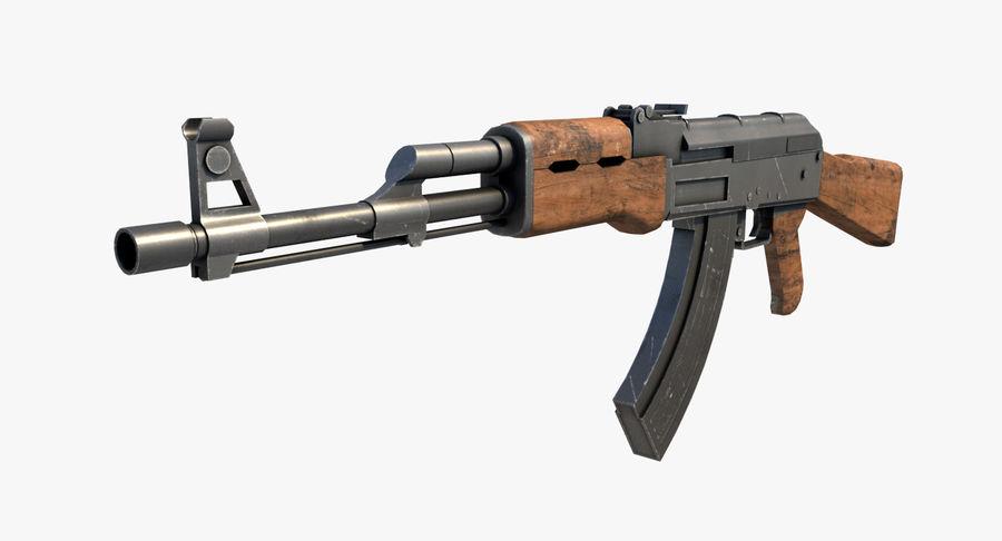 AK47 Kalashnikov royalty-free 3d model - Preview no. 2