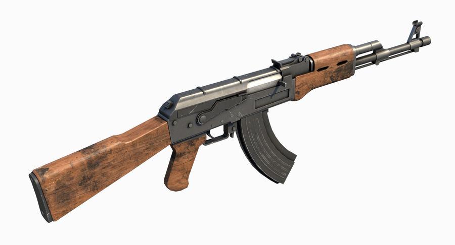 AK47 Kalashnikov royalty-free 3d model - Preview no. 11