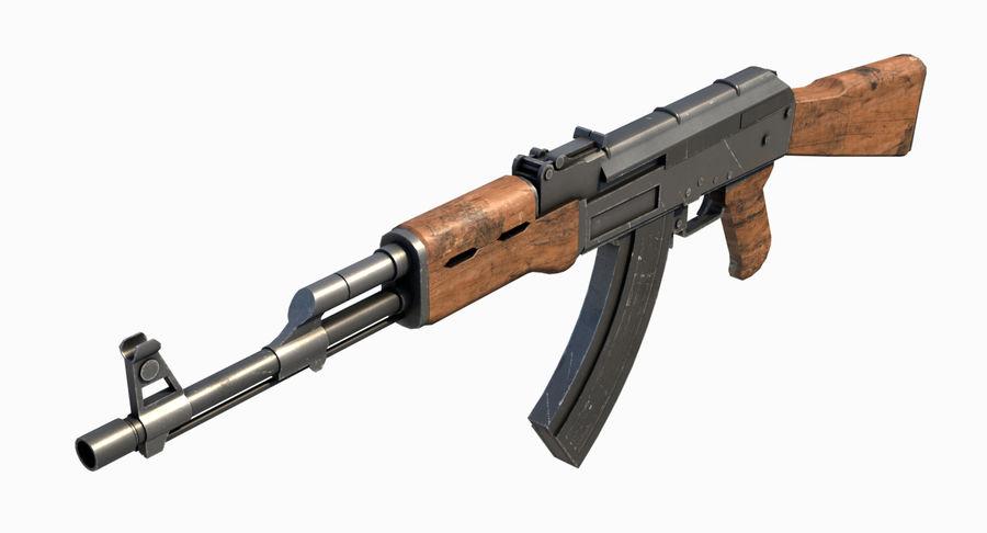 AK47 Kalashnikov royalty-free 3d model - Preview no. 10