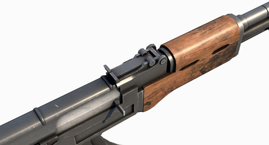 AK47 Kalashnikov royalty-free 3d model - Preview no. 12