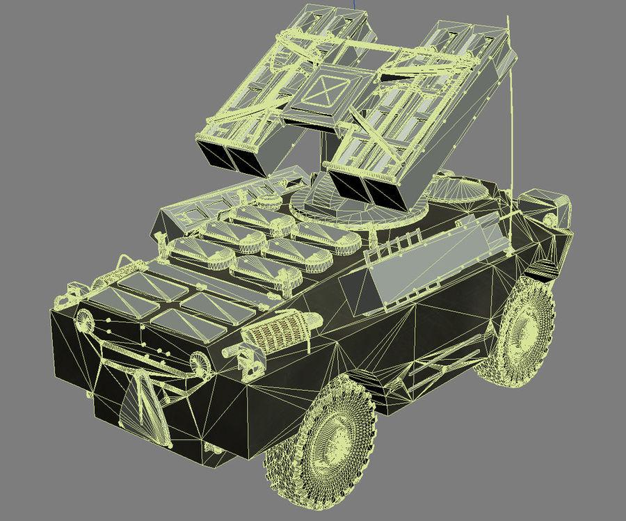 Gaskin 9K31 Strela Rocket Vehicle royalty-free 3d model - Preview no. 9