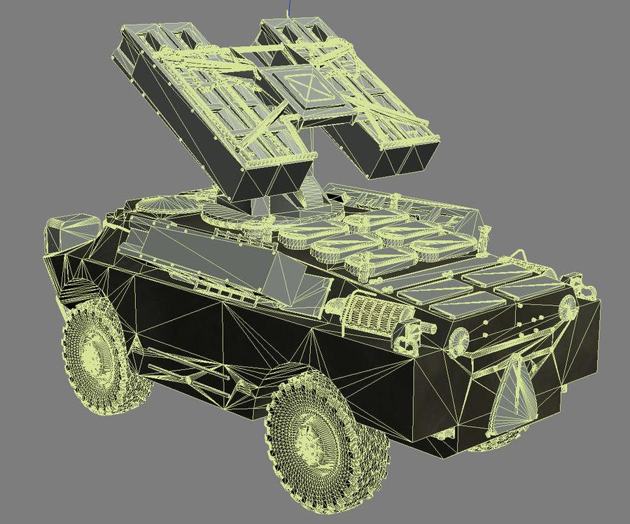 Gaskin 9K31 Strela Rocket Vehicle royalty-free 3d model - Preview no. 10