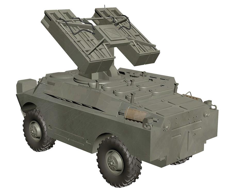 Gaskin 9K31 Strela Rocket Vehicle royalty-free 3d model - Preview no. 4