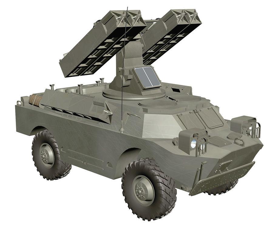 Gaskin 9K31 Strela Rocket Vehicle royalty-free 3d model - Preview no. 2