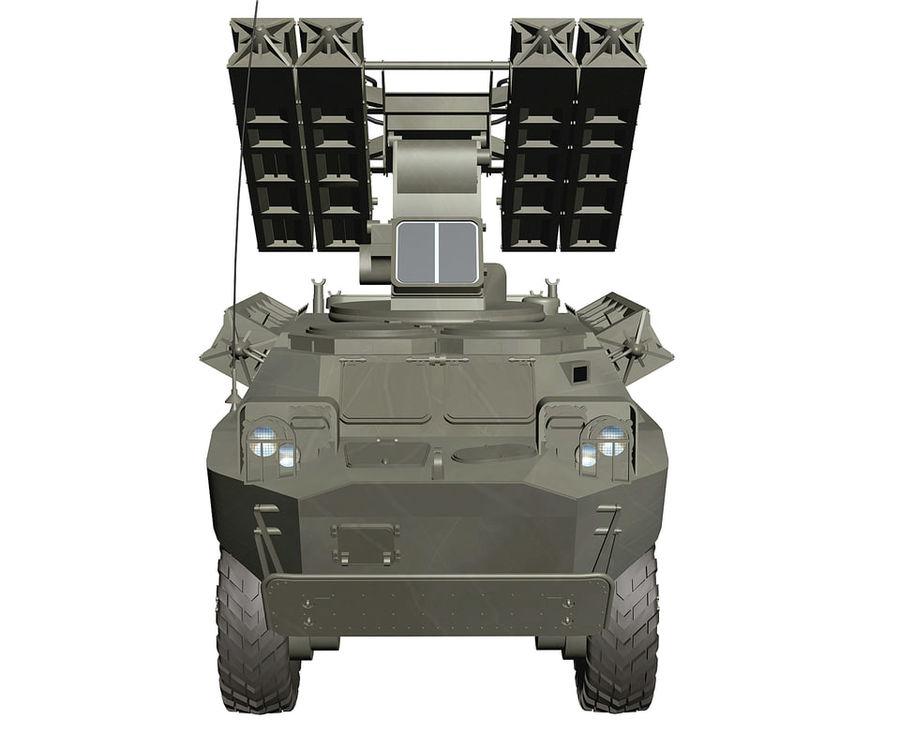 Gaskin 9K31 Strela Rocket Vehicle royalty-free 3d model - Preview no. 5