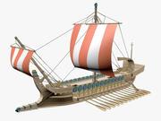 그리스 고대 보트 3d model