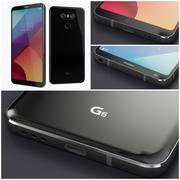 LG G6 Black 2017 Smartphone Flagship 3d model