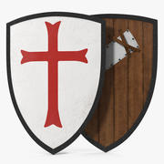 Knights Templar Shield 3D Model 3d model