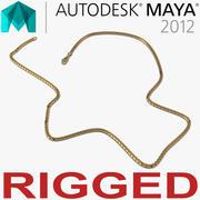 Rigged Gold Chain para Maya modelo 3d