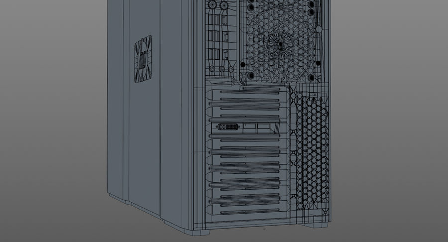Workstation HP Z800 royalty-free 3d model - Preview no. 16