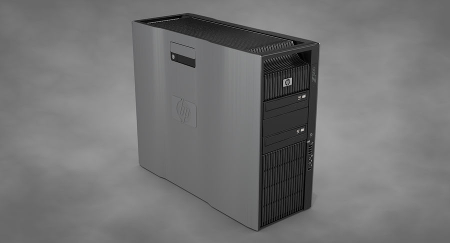 Workstation HP Z800 royalty-free 3d model - Preview no. 3