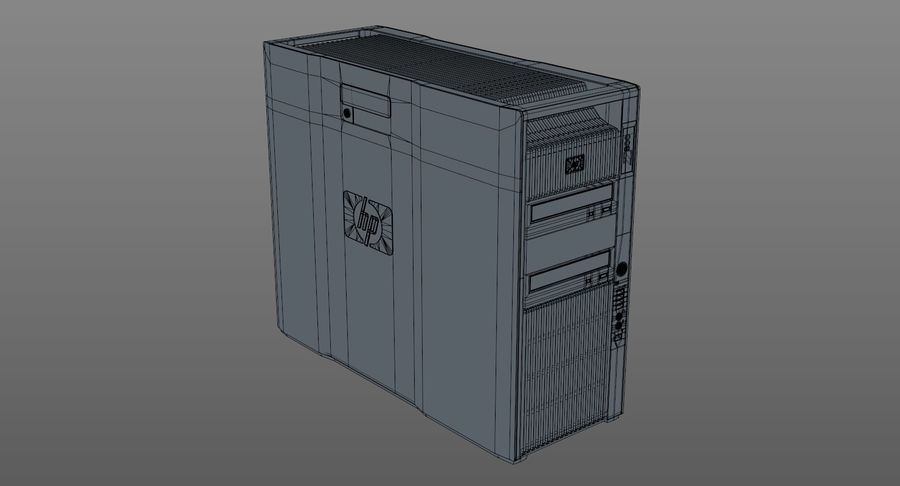 Workstation HP Z800 royalty-free 3d model - Preview no. 10