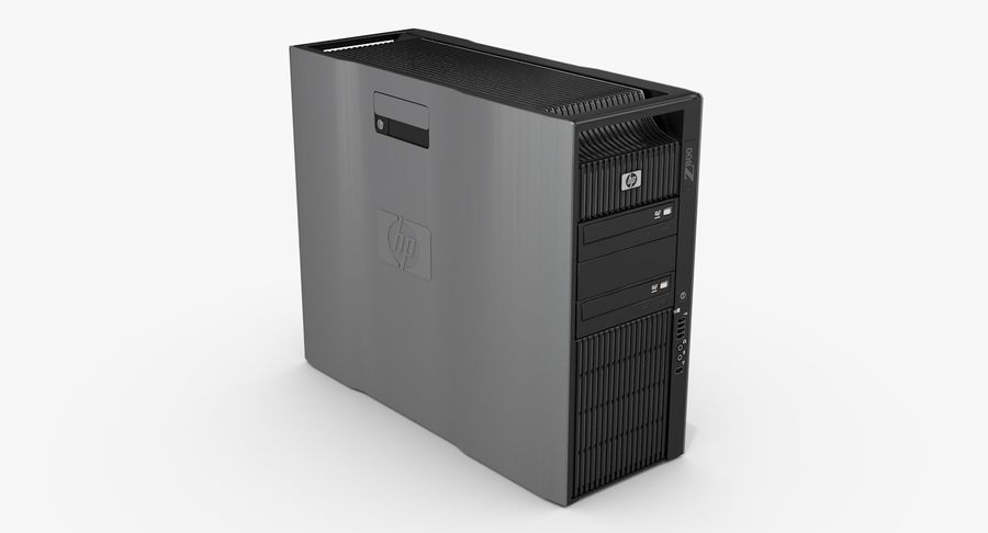 Workstation HP Z800 royalty-free 3d model - Preview no. 2