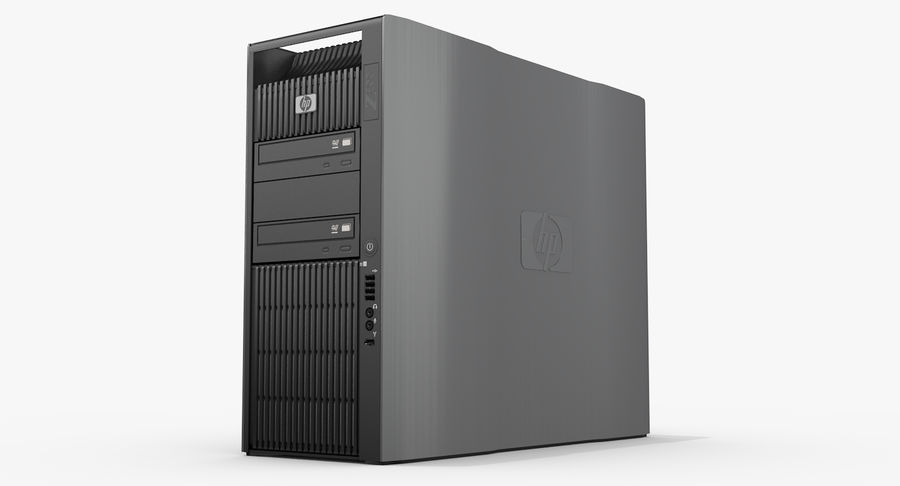 Workstation HP Z800 royalty-free 3d model - Preview no. 4