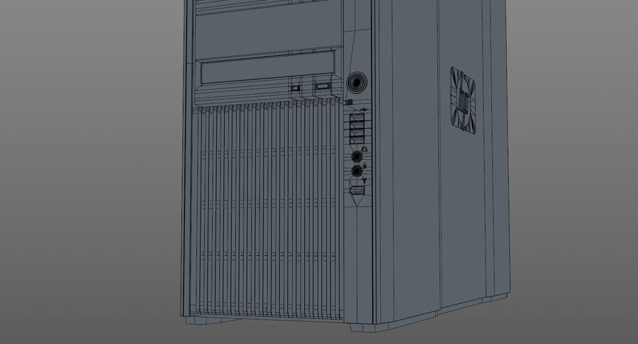 Workstation HP Z800 royalty-free 3d model - Preview no. 15