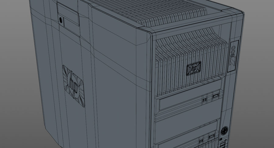 Workstation HP Z800 royalty-free 3d model - Preview no. 14
