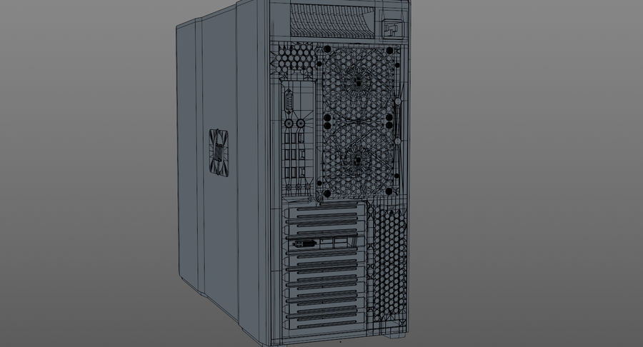 Workstation HP Z800 royalty-free 3d model - Preview no. 12