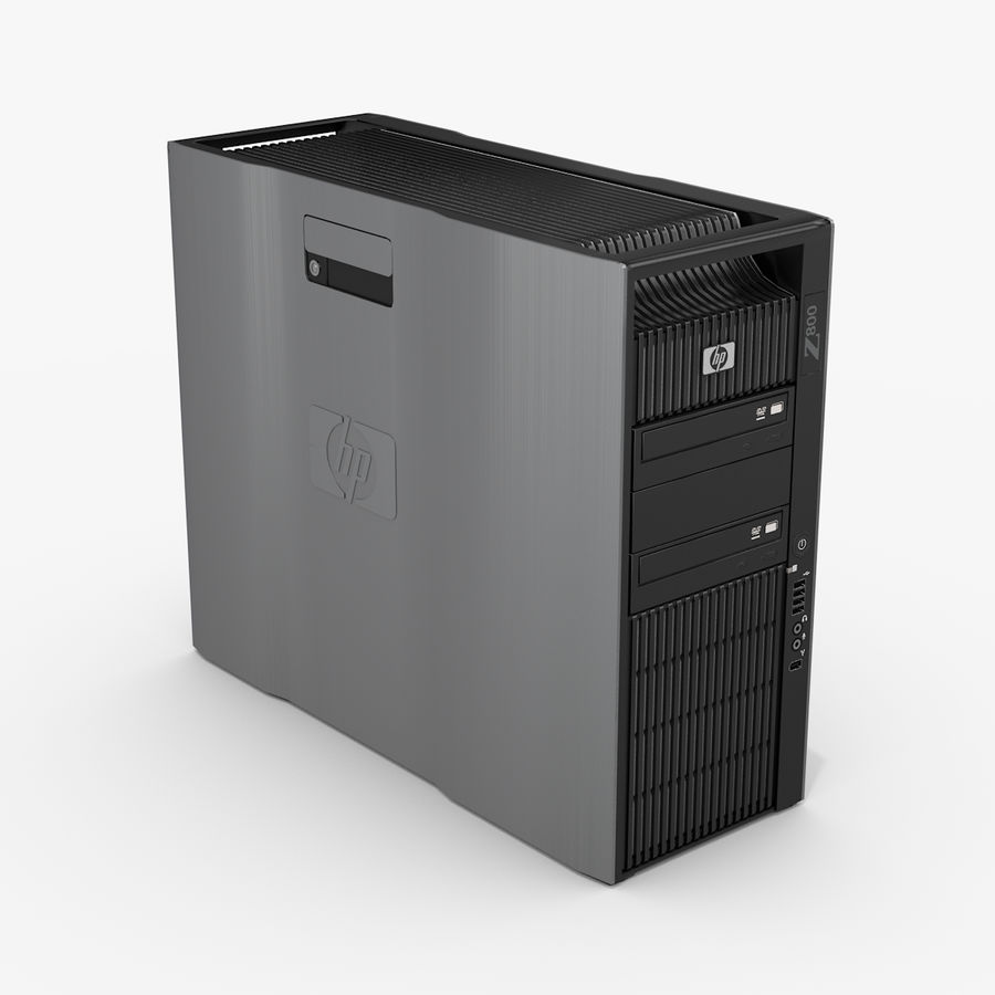 Workstation HP Z800 royalty-free 3d model - Preview no. 1