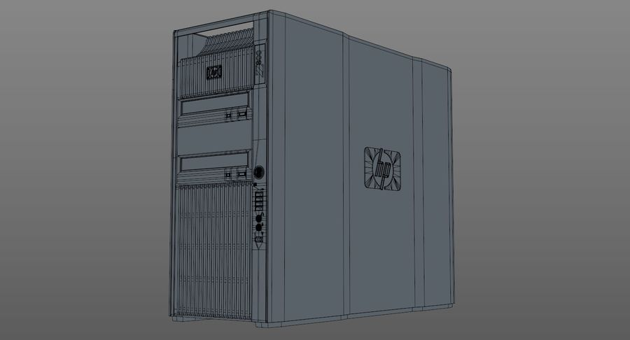 Workstation HP Z800 royalty-free 3d model - Preview no. 11