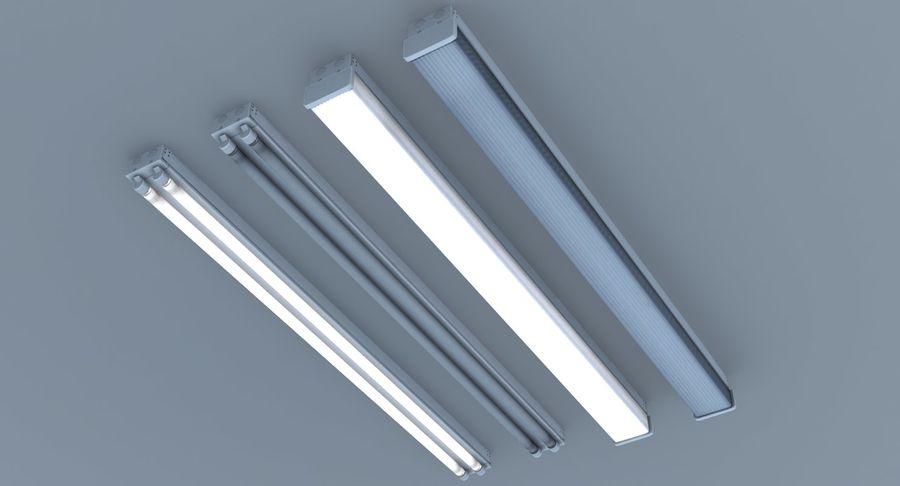 Fluoreszierende Deckenleuchten royalty-free 3d model - Preview no. 3
