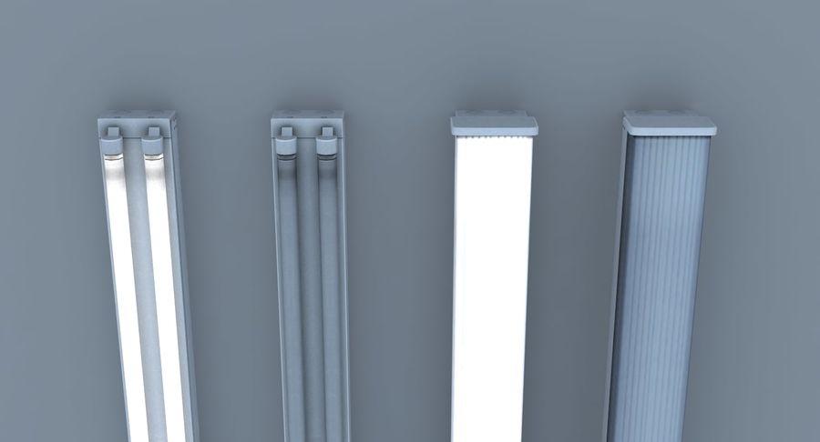Fluoreszierende Deckenleuchten royalty-free 3d model - Preview no. 8