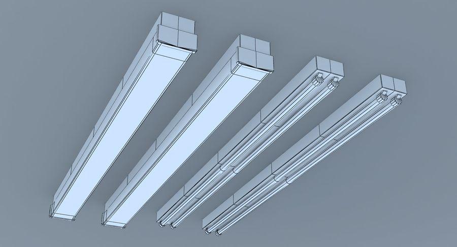 Fluoreszierende Deckenleuchten royalty-free 3d model - Preview no. 11