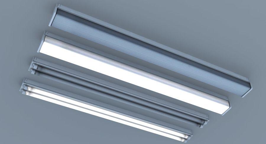 Fluoreszierende Deckenleuchten royalty-free 3d model - Preview no. 4