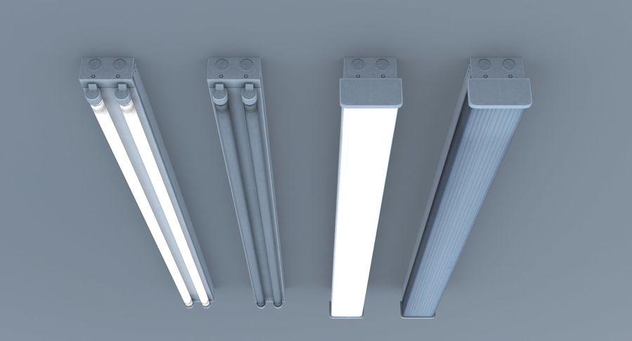 Fluoreszierende Deckenleuchten royalty-free 3d model - Preview no. 6