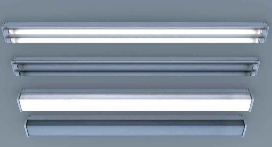 Fluoreszierende Deckenleuchten royalty-free 3d model - Preview no. 5