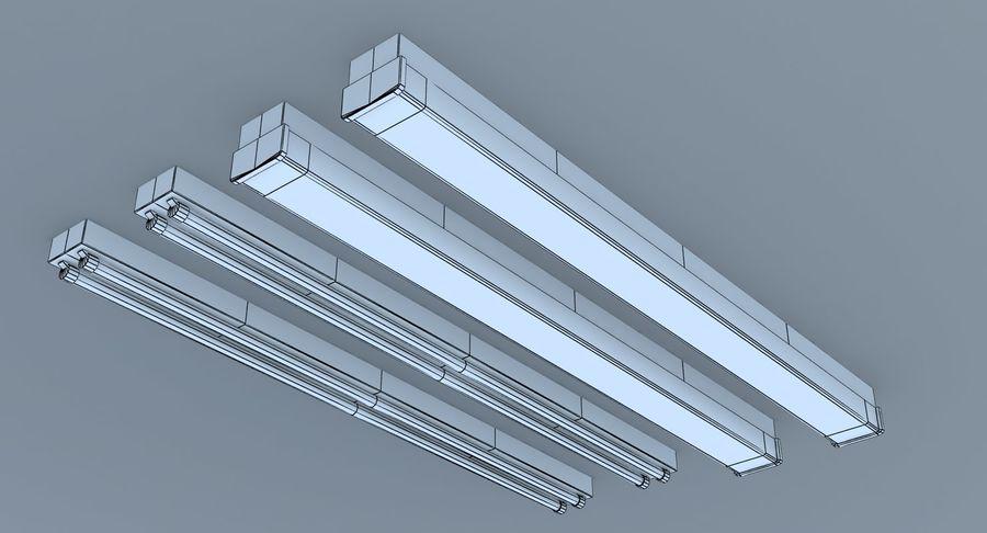 Fluoreszierende Deckenleuchten royalty-free 3d model - Preview no. 9