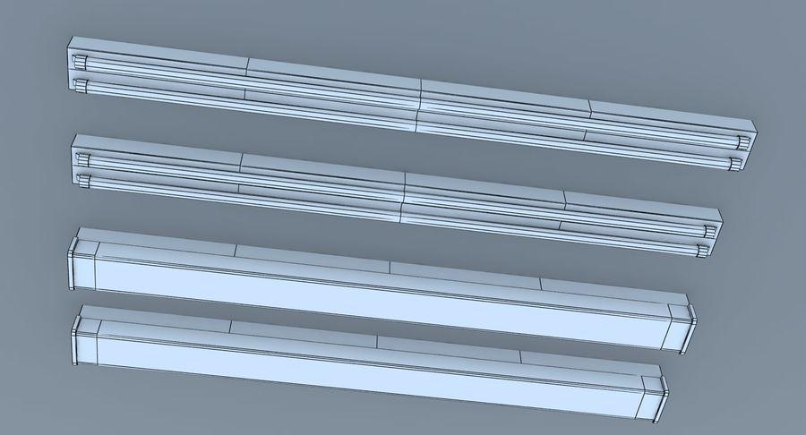 Fluoreszierende Deckenleuchten royalty-free 3d model - Preview no. 10