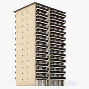 Flatgebouw in Parijs 3d model