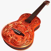 Guitarra Esculpida 3d model