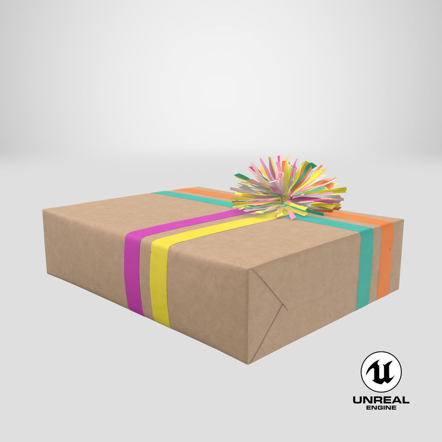 Birthday Present 01 royalty-free 3d model - Preview no. 45