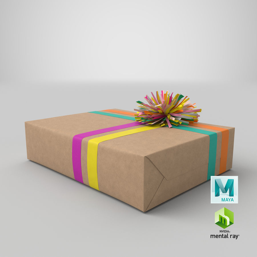 Birthday Present 01 royalty-free 3d model - Preview no. 39