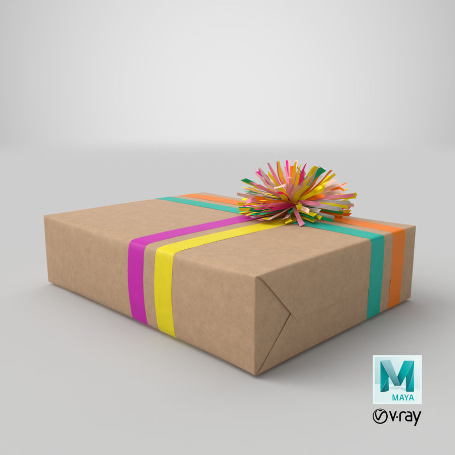 Birthday Present 01 royalty-free 3d model - Preview no. 37